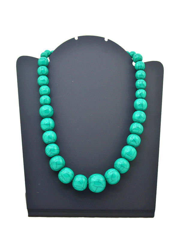 Green Color Stone Immitation Necklace