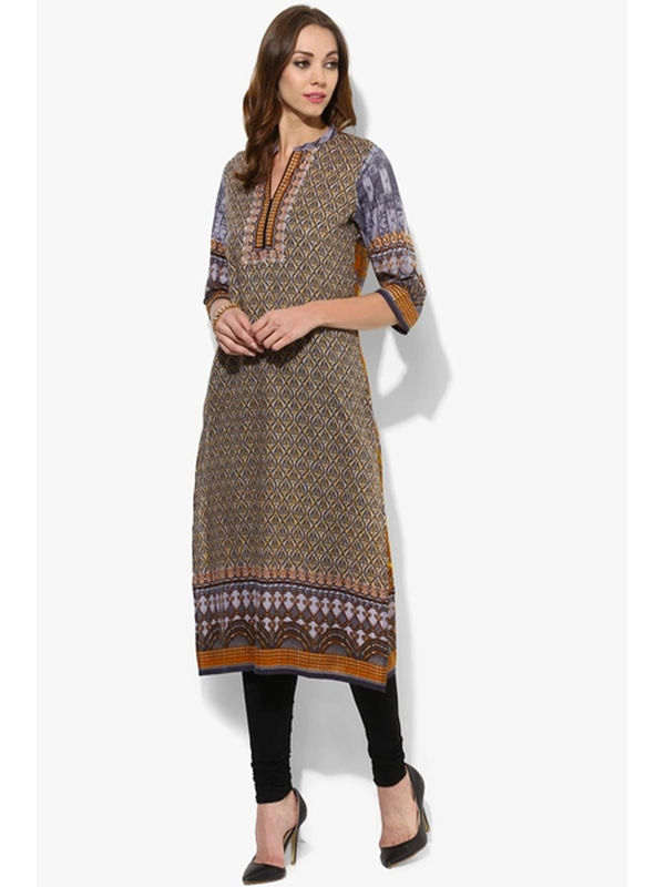 Shree Green Printed Reyon Kurta