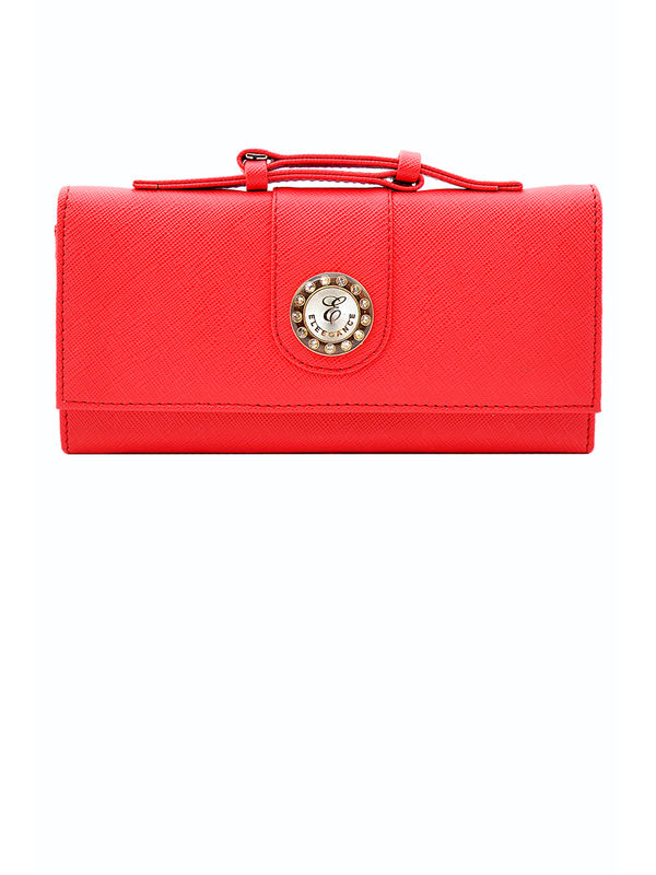 Women Red Formal Clutch From Elegance