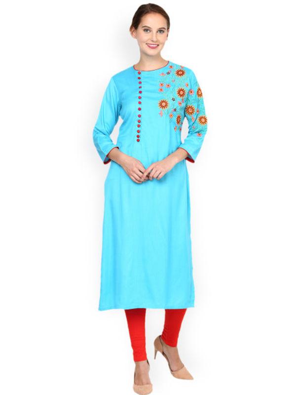 Shakumbhari Blue Women Kurtas