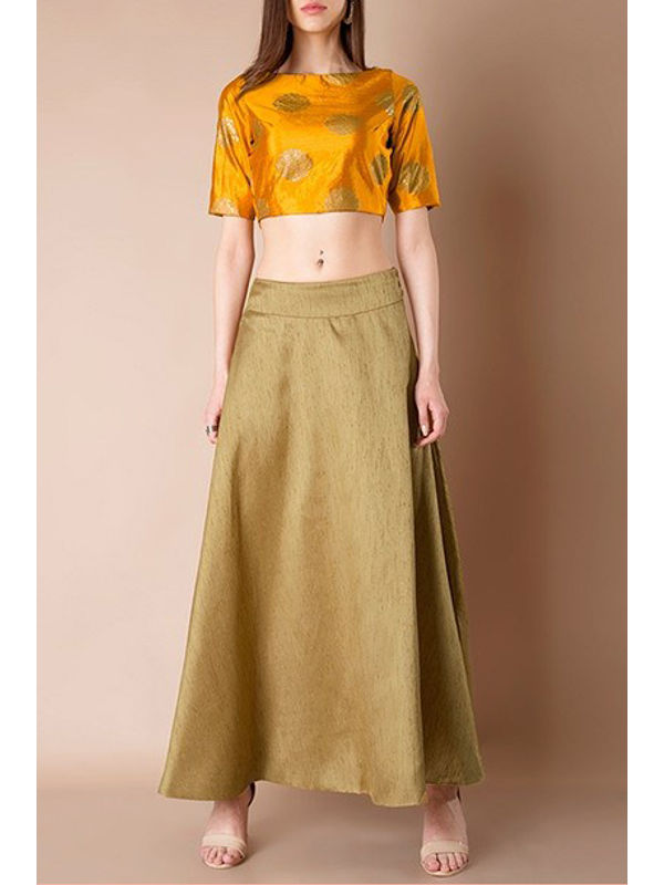Silk Golden Skirt