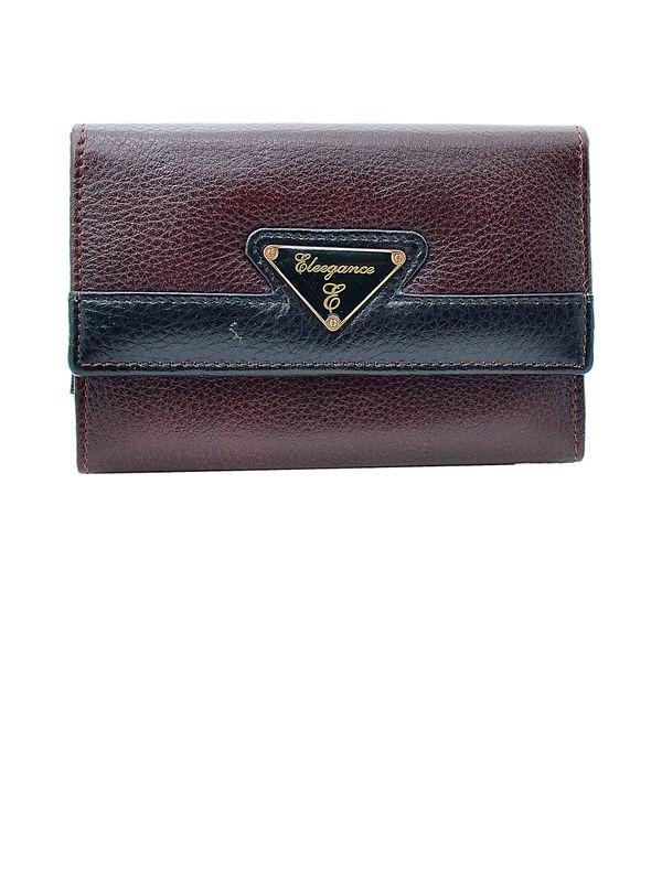 Women Brown Black Genuine Leather Clutch From Elegance