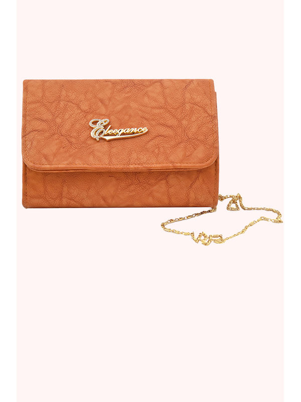 Women Brown Clutch From Elegance