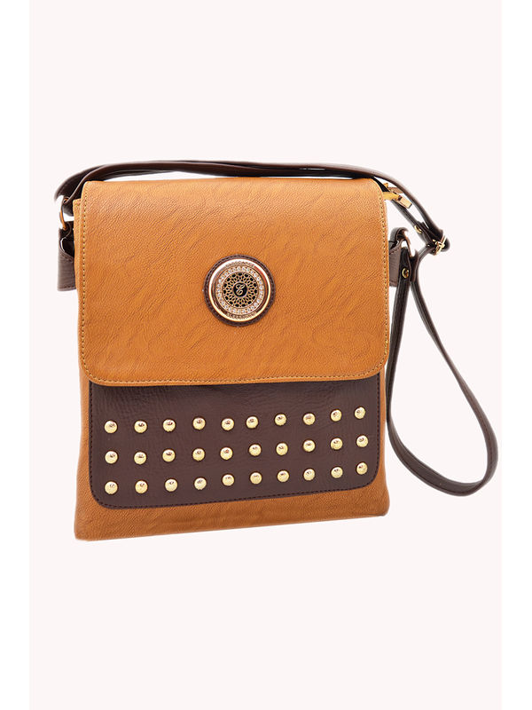 Women Brown Sling Bag From Elegance