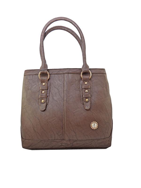 Women Coffee Brown Shoulder Bag From Elegance