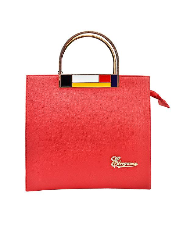 Women Red Formal Handbag From Elegance