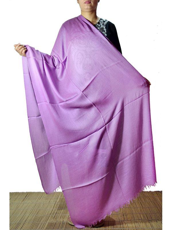 96 gm Lavender Cashmere Stole