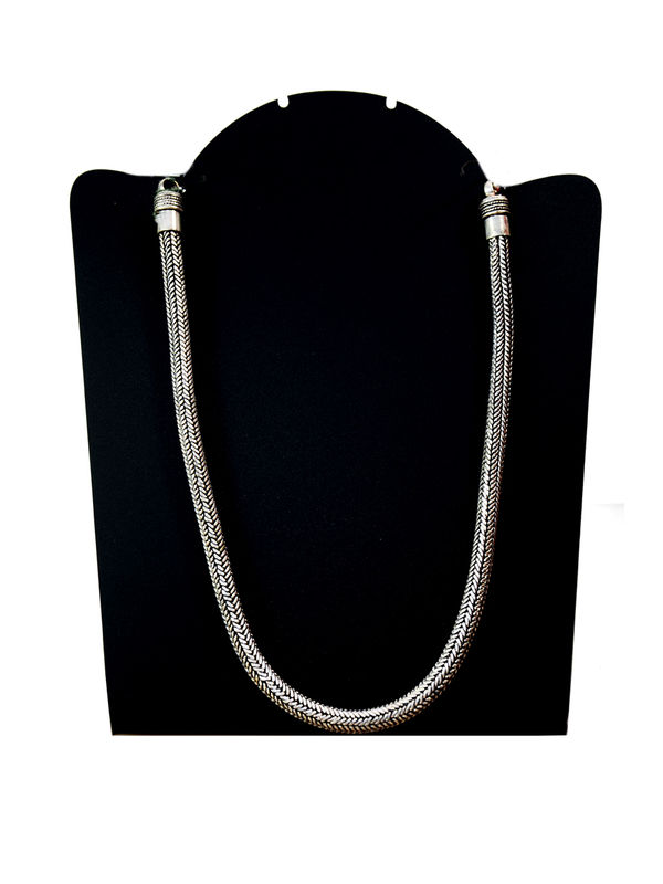 Silver Oxidised Tribal Chain