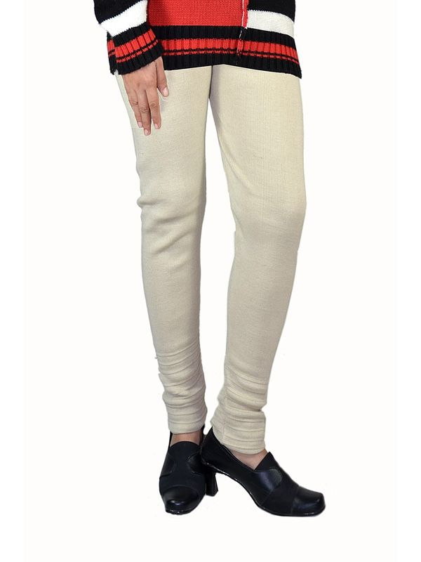 Beige color woolen Legging