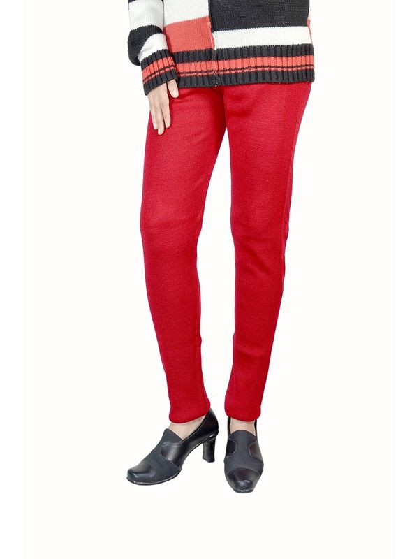 Red woolen Legging