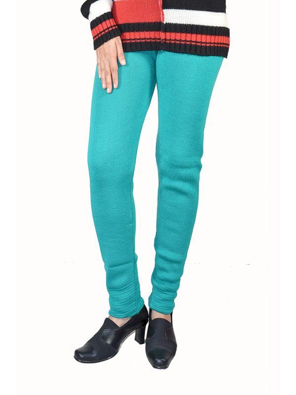Green color woolen Legging