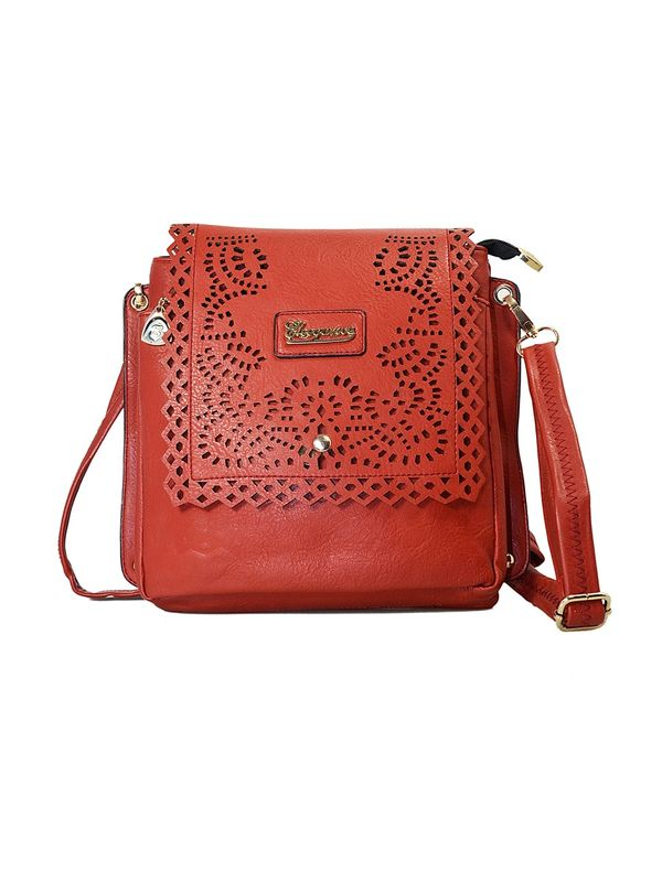 Durable Brown Sling Bag From Elegance