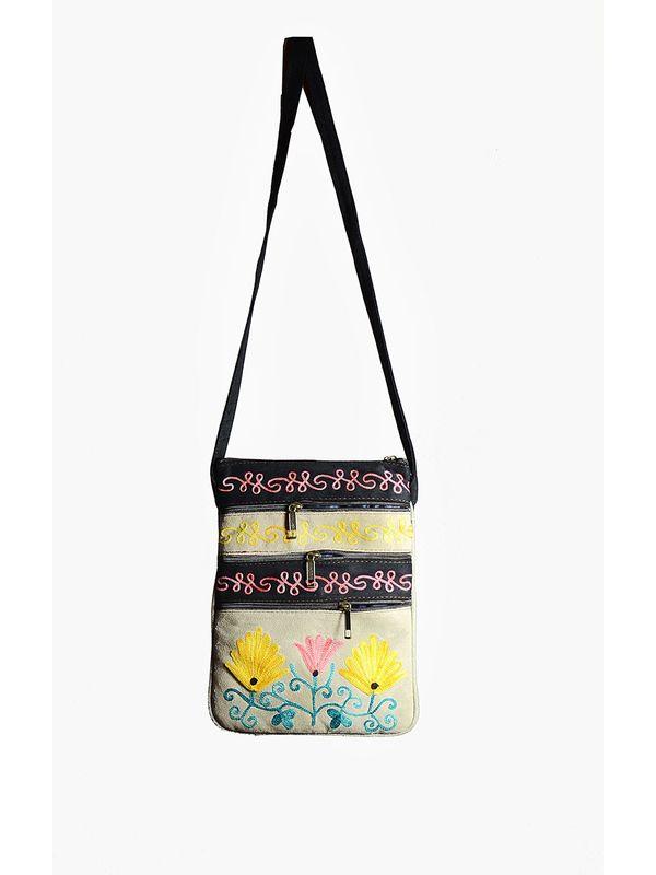 Kashmiri Embroidered Sling Bag