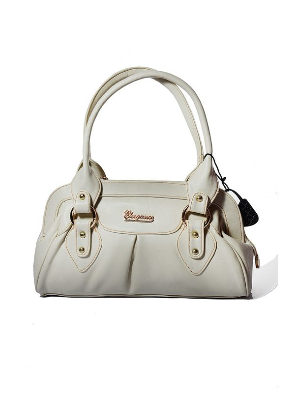 Elegant Off White Beautiful Womens Handbag