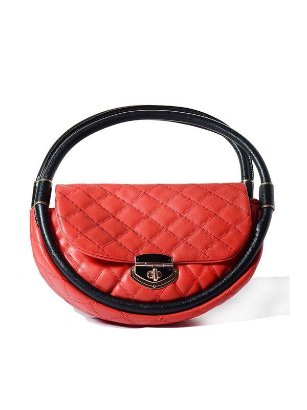 Elegance Round Red and Glamorous Handbag
