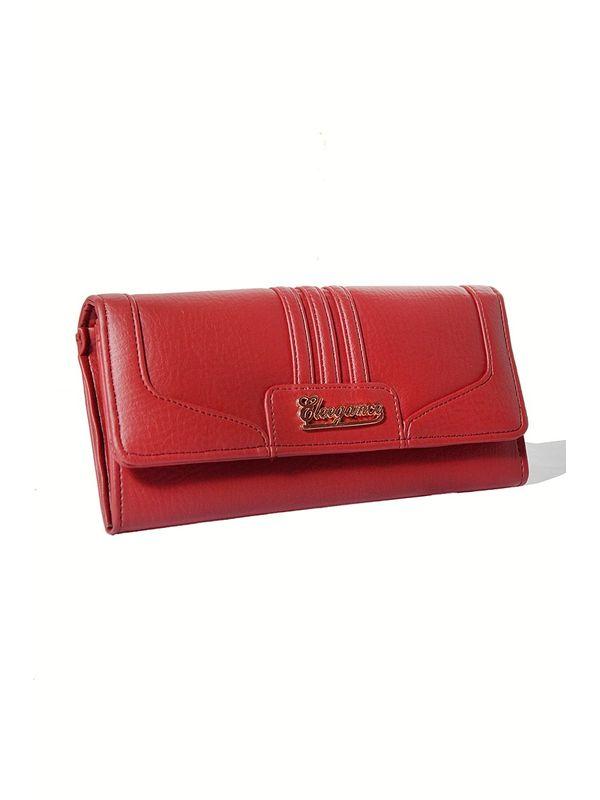 Elite taste Red colored clutch from Elegance