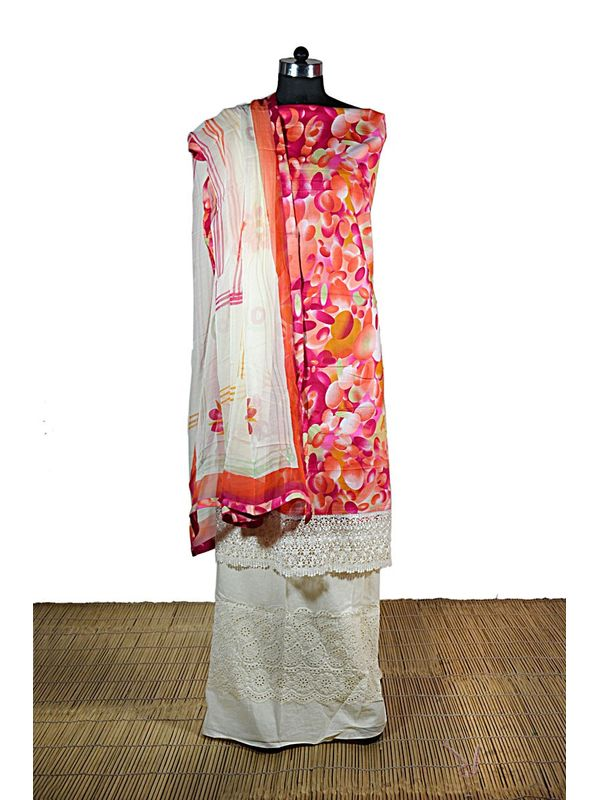 Cotton Printed Suit with Hand Painted Dupatta