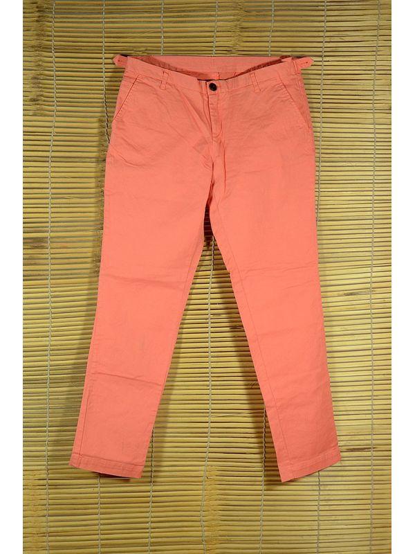 Peach Neon Slim Fit Trouser
