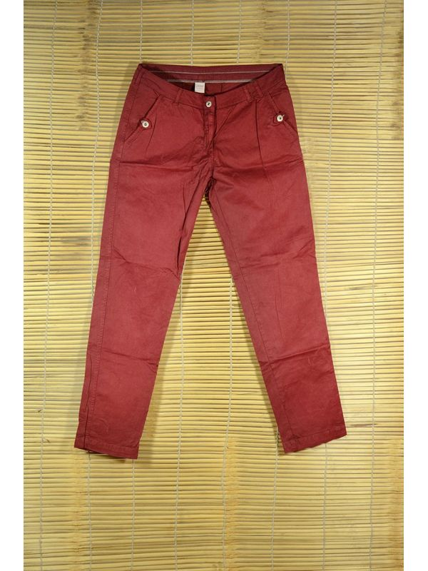 MAROON SLIM FIT Trouser
