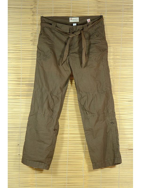 Brown Rollup Cargo Pants