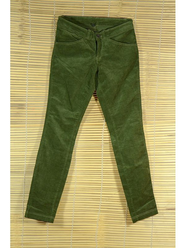 Thinline Corduroy Green strechable slim fit Trouser