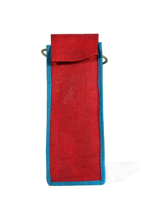 Jute Water Bottle Carry Bag Cover Holder Travel Accessories