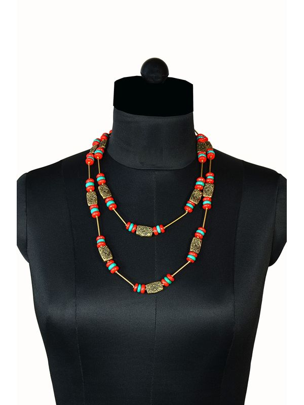Classy Red and Green Necklace