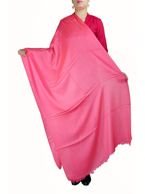 96 Grams Pink Cashmere Shawl