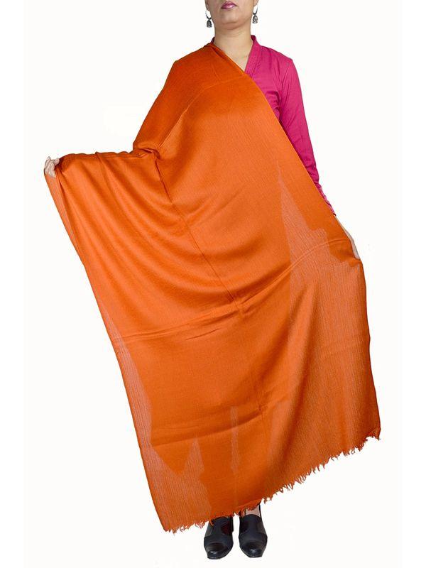 96 Grams Orange Color Cashmere Stole