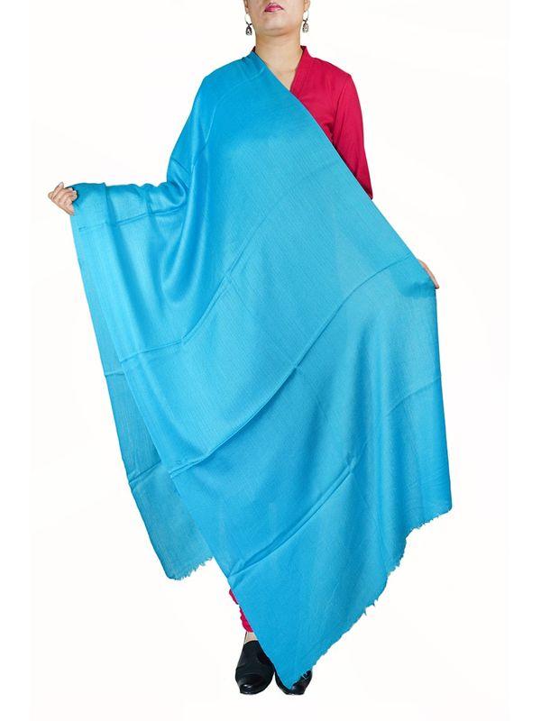 Sky Blue Cashmere Kashmiri Woolen Stole