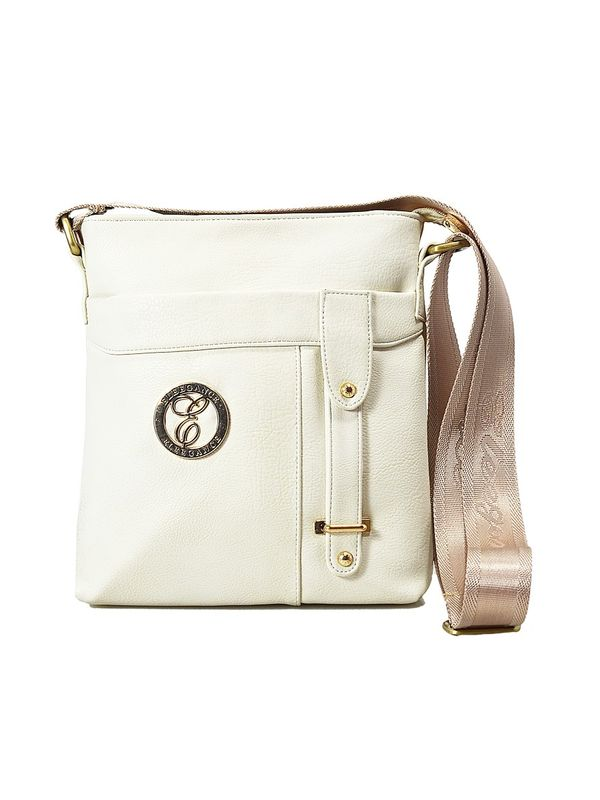 Elegance Off White Women Sling Bag
