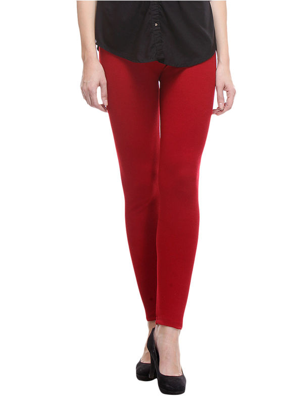 Woolen Maroon Color Legging