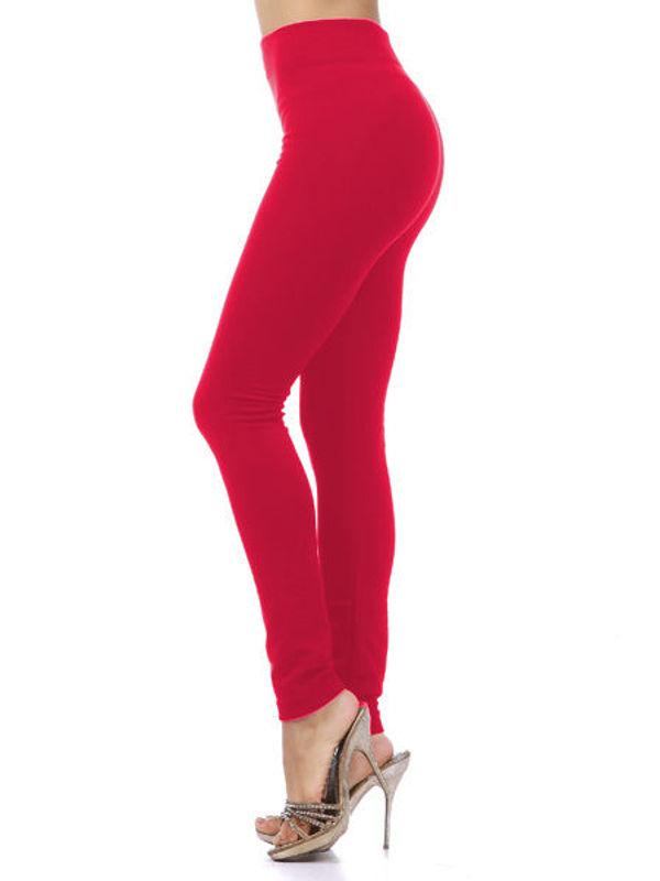 Woolen Red Color Legging