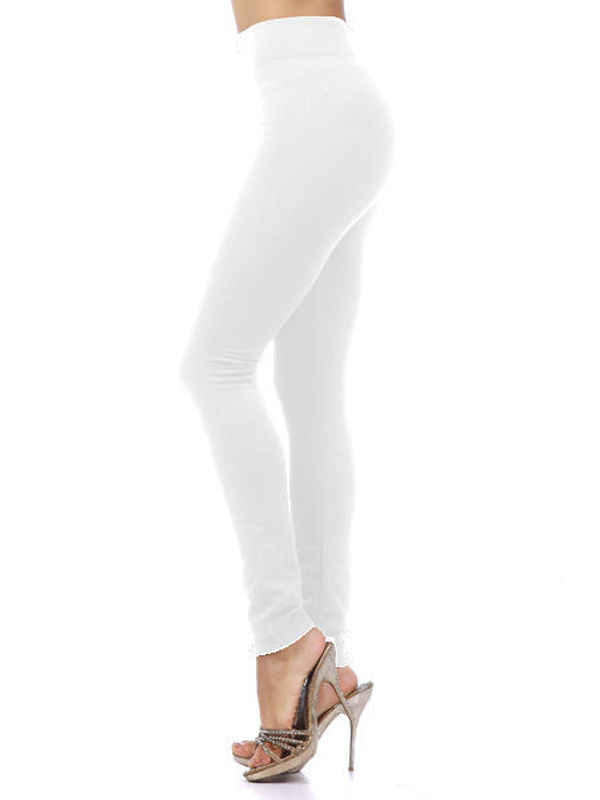 Woolen White Color Legging