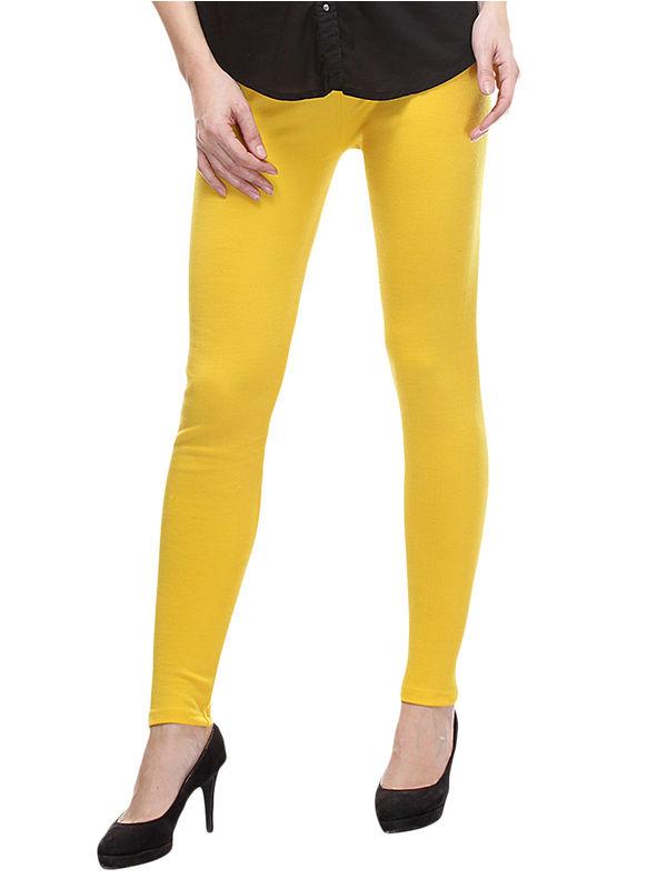 Woolen Yellow Color Legging