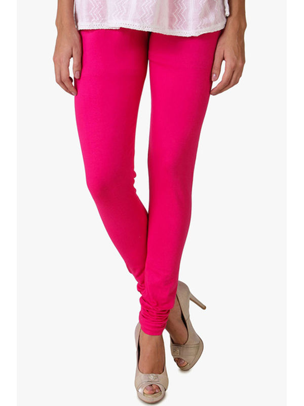 Magenta Cotton Slim Fit Legging