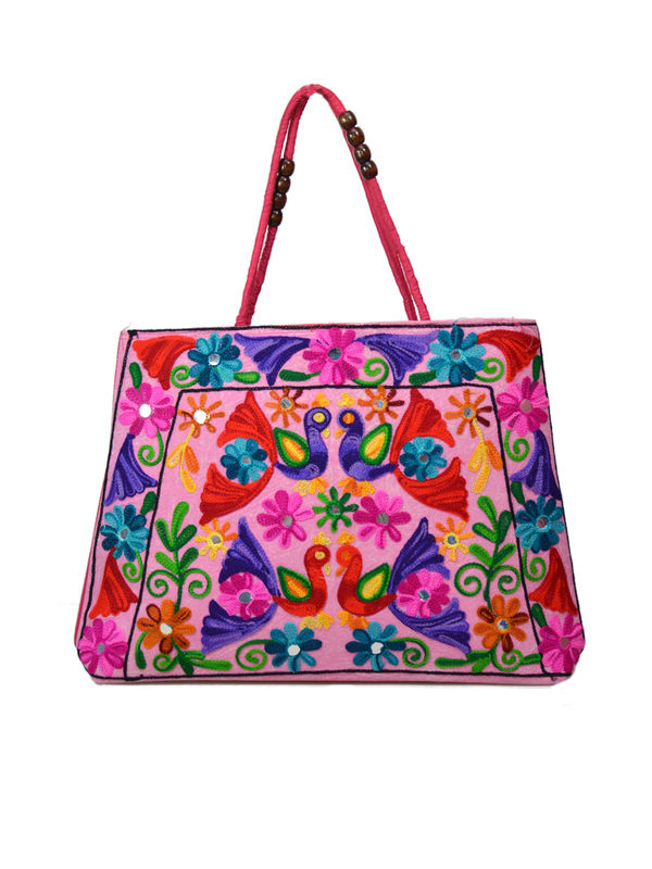 Handicraft Ethnic Embroidered Pink Handbag