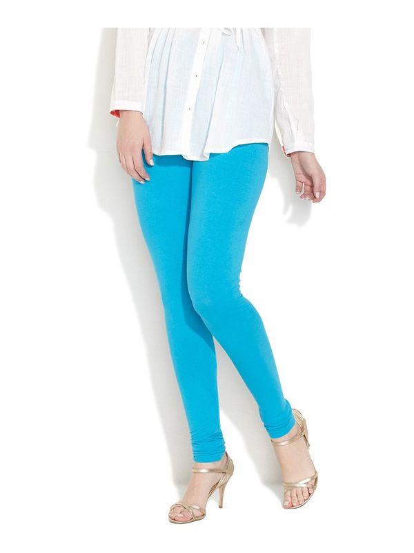 Sky Blue Cotton Slim Fit Legging