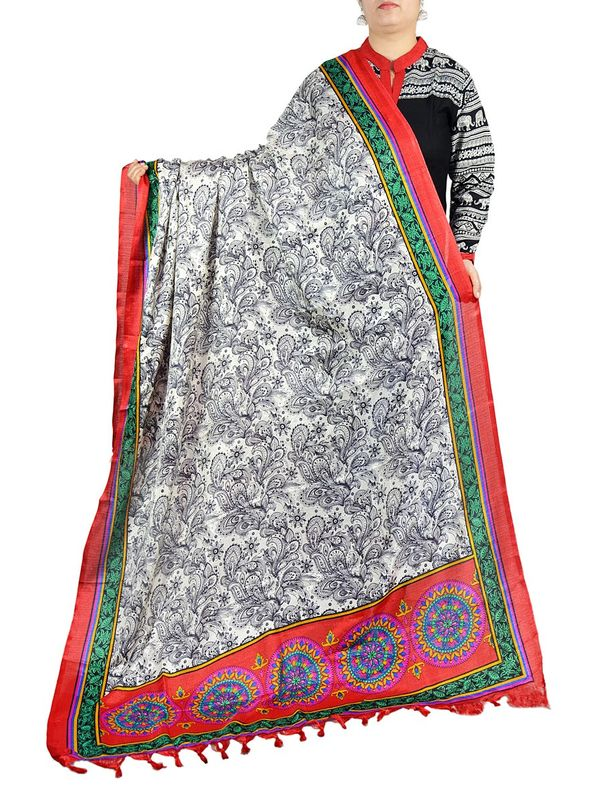 Colorful Bhagalpuri Silk Dupatta