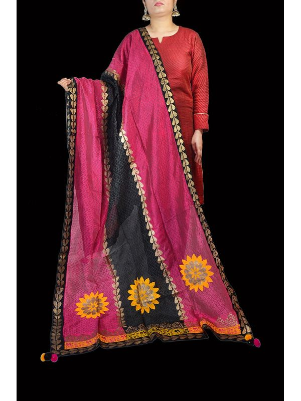 Hand Painted Cotton Formal Dupatta