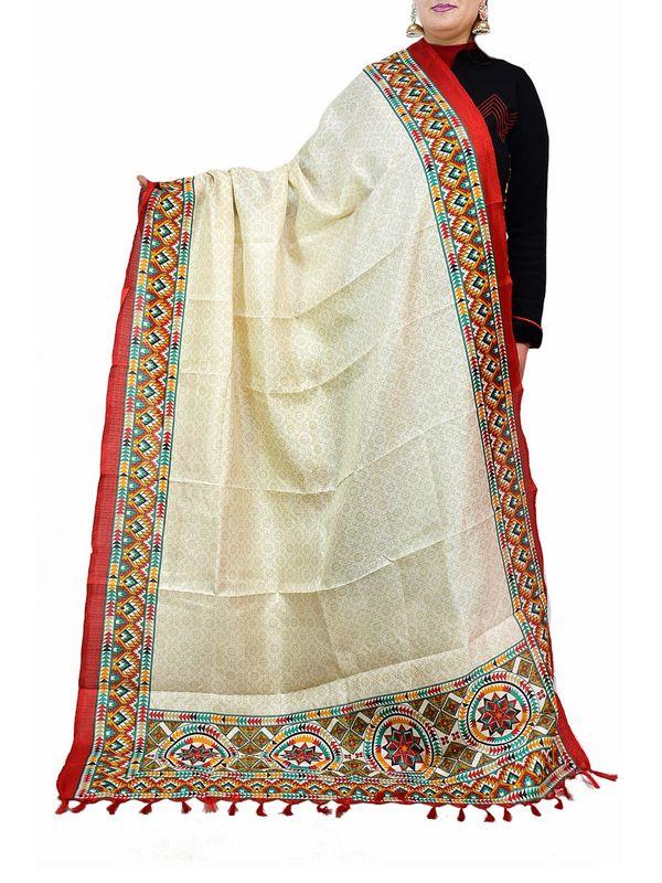 Bhagalpuri Art Silk Multi Color Dupatta