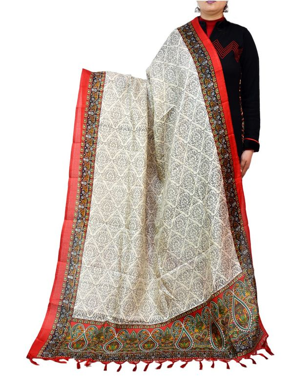 Bhagalpuri Multi-Color Art Silk Dupatta