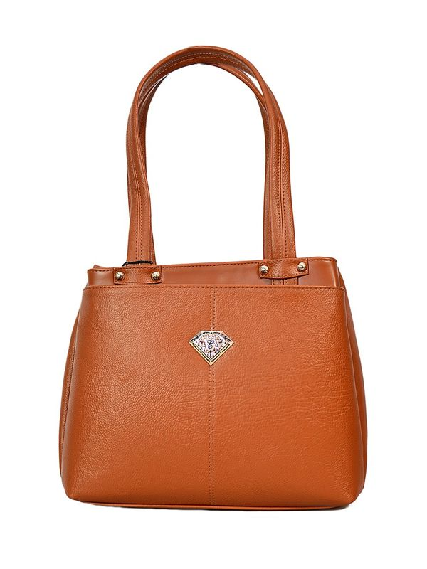 Brown Shoulder Bag From Elegance