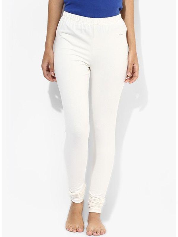 White Cotton Slim Fit Legging
