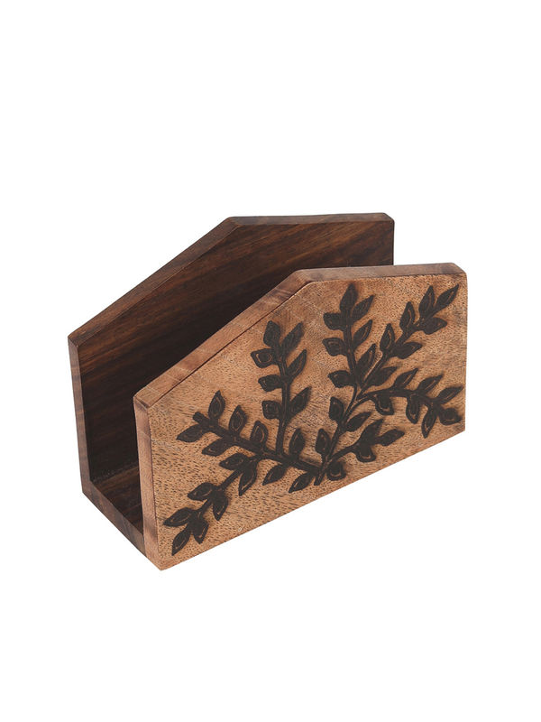 Hand Crafted Wooden Cutlery Holder Tissue Holder And