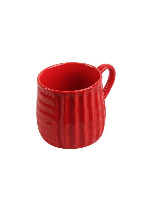 Hand Painted Red Stripes Ceramic Tea Coffee Mugs Set Of ...