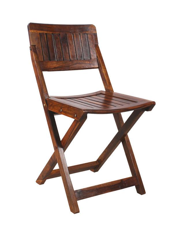 Sheesham Wood Folding Chair. U2039