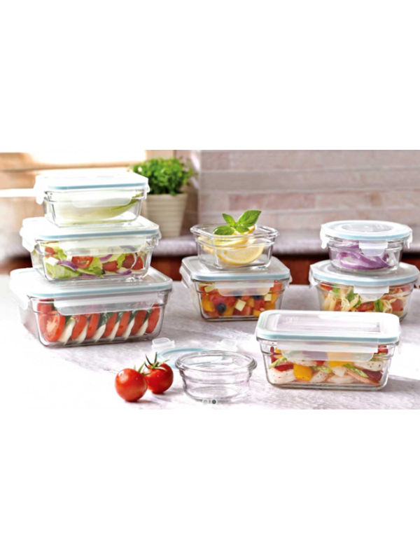 Airtight Break Resistant Unbreakable Glass Food Storage Container