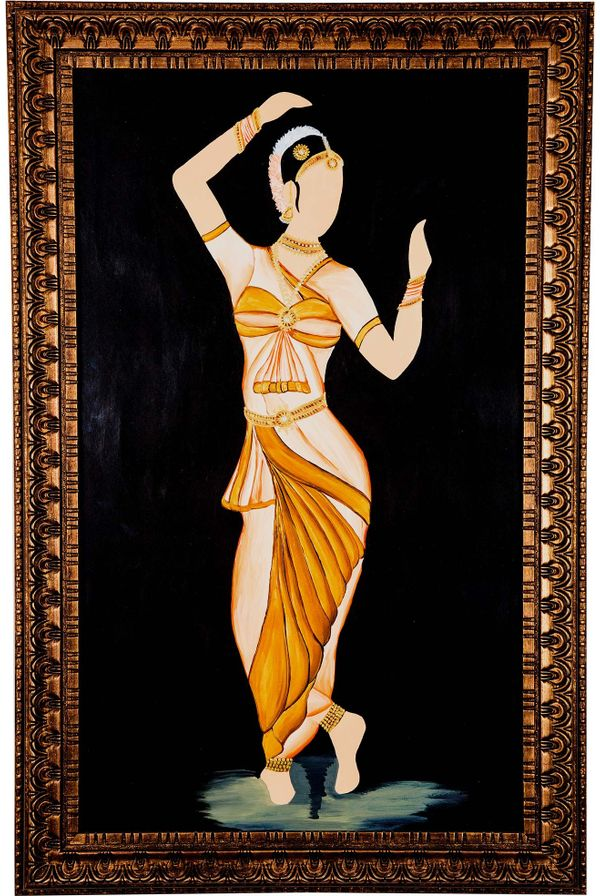 Classical move rhythmically - Gold color; Hand painted art - Size 31.5(H) Inch * 20.3(W) Inch
