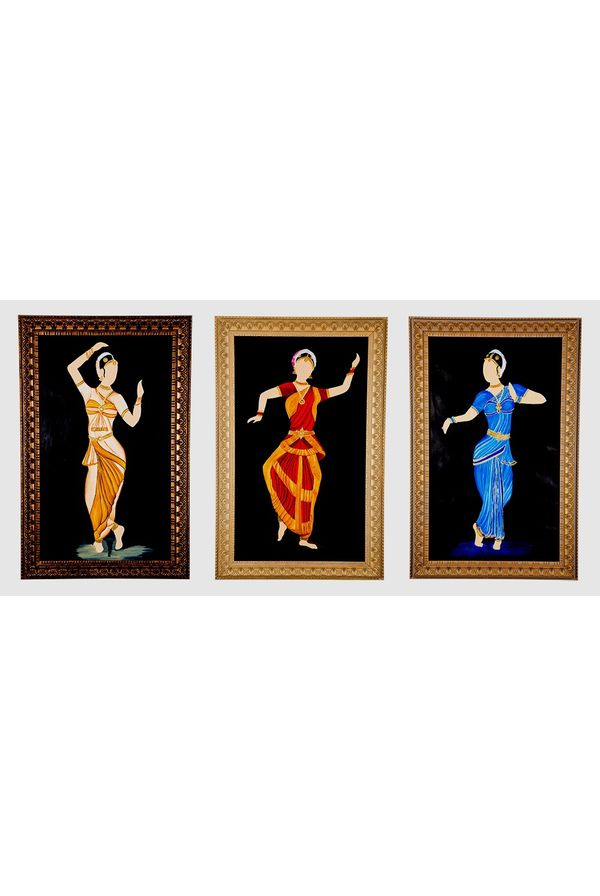 Classical move rhythmically - Combo offer; Hand painted art - Size 31.5(H) Inch * 20.3(W) Inch of each art